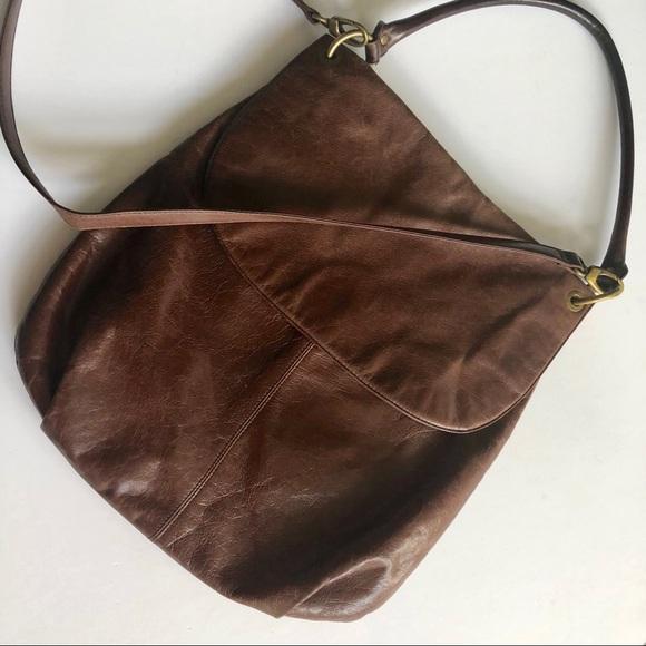 19749debe6 HOBO Handbags - LARGE HOBO INTL BROWN LEATHER CROSSBODY HOBO BAG